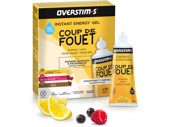 OVERSTIM.s Coup de Fouet Liquid Gel Box 10x30g, Mixed Flavors